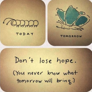 dont lose hope life picture quote