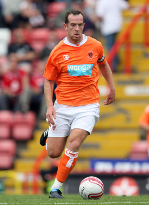 Charlie Adams Charlie Adams of Blackpool in action during the pre