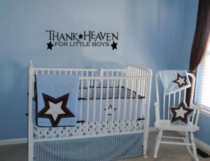 ... FOR LITTLE BOYS WALL ART DECAL QUOTE WORDS LETTERING BABY NURSERY