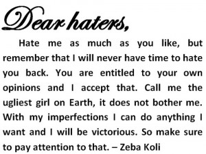 haters quotes tumblr haters quotes2 300 300 haters dear haters quotes ...