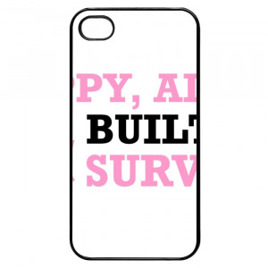 Breast Cancer Inspirational Quotes iPhone 4 Case