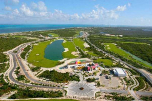 Aerial view from Playa Mujeres Golf Club