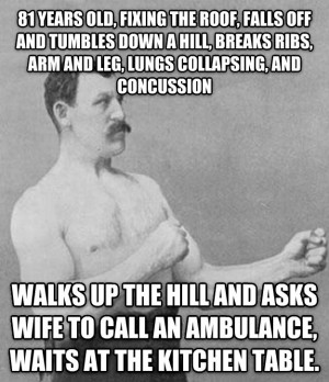 Overly Manly Man Band Aid
