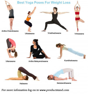 ... and lose weight. Go with these simple yoga poses for lose your weight