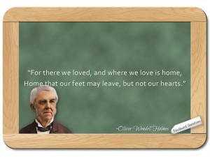 Oliver Wendell Holmes Sr... on Home