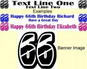Personalised 66th Birthday Banner - Glitz