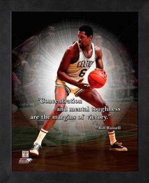 Boston Celtics Bill Russell Framed Pro Quote
