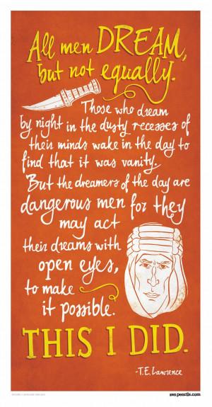 LAWRENCE OF ARABIA: All men dream