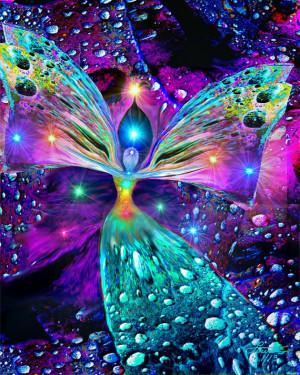 Chakra Art Angel Healing Rainbow Reiki Energy Art Decor