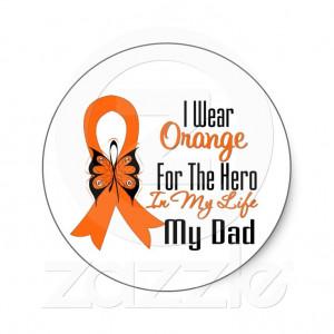Leukemia Orange Ribbon Hero My Dad Stickers from Zazzle.com: My Mom My ...