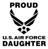 Proud Of Daughter Proud air force daughter decal