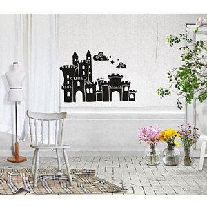 ... Cute Fairy Tale Castle Quotes Mural PVC Wall Stickers #02434854
