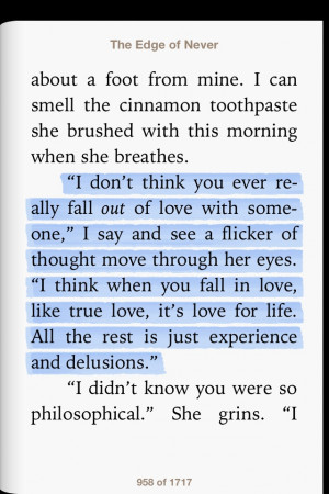 The edge of never quote. love this book