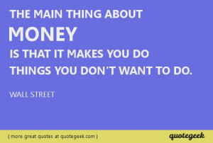 money greed quotes