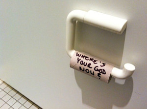 funny toilet paper wheres your God now