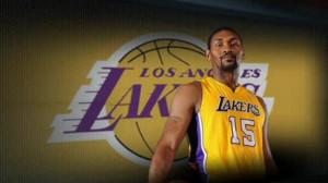 Metta World Peace of Los Angeles Lakers suspe