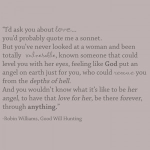 Good Will Hunting love quote