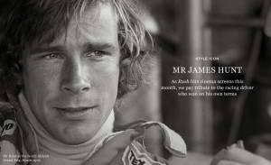 MR JAMES HUNT, RUSH (2013)!