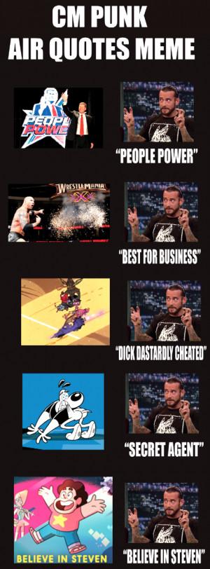 CM Punk Air Quotes Meme by BreakoutKid