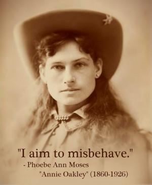 "Phoebe Ann Moses ""Annie Oakley"" (1860-1926)[ who | huh ]"