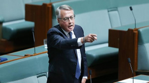 Wayne Swan copped a one hour suspension from parliament Picture Gary
