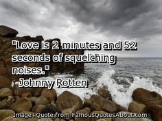 Johnny Rotten Quotes | Love is 2 minutes and 52 seconds of squelching ...