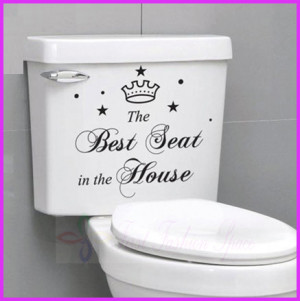 Best Seat In The House Quote Toilet Bathroom Stickers, Funny Toilet ...