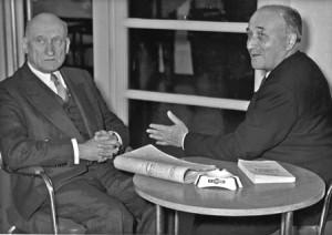 Jean Monnet (on the left) with Robert Schuman © Conseil de l'Europe ...