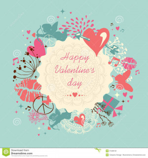 valentine-s-day-greeting-card-valentines-vintage-colors-elements-retro ...