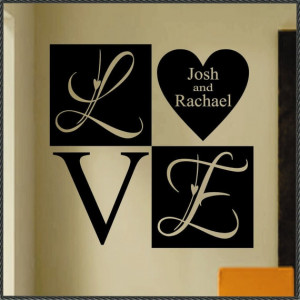 Vinyl Wall Lettering Quote LARGE Wedding by WallsThatTalk on Etsy, $18 ...