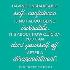 Self confidence More