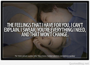 Feelings that I have for you quote