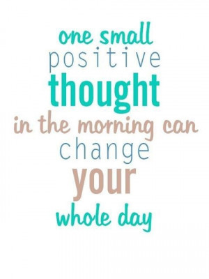 Starting the Day With Positivity