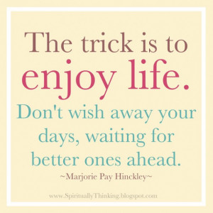 Enjoy Life Quotes, Enjoy Quotes, Life Quotes