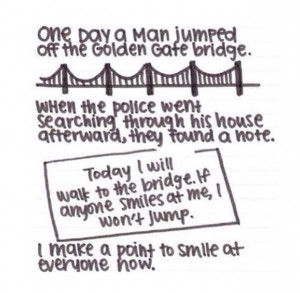 one day a man jumped off the golden gate bridge when the police were ...