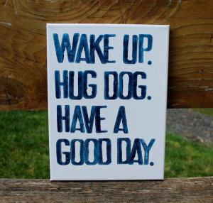 ... hug dog...