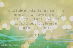 November's Grief Project - Attitude of Gratitude
