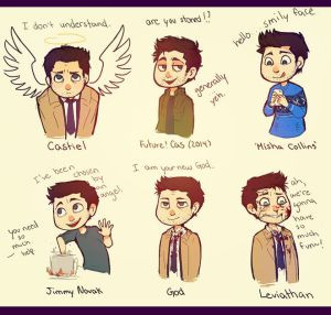 ... mony yeah that one was spn rather then misha but it s fetureing cas