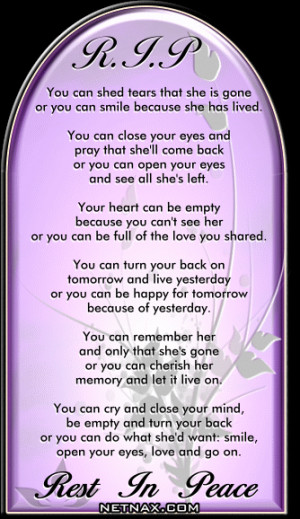 ... for -Rest In Peace RIP Graphics - Poems For Mom or Grandma | NetNax