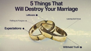 ... that will destroy your marriage {in order of the series} are