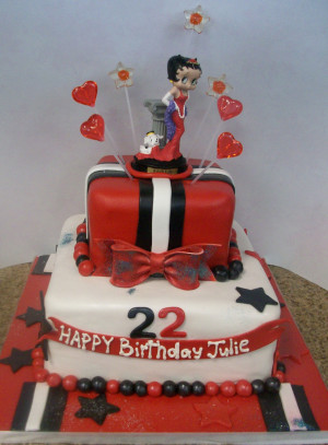 Gallery of: 16 Betty Boop Cake Designs with Quotes