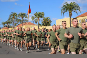... motivation run were (Back in 1775) and (Born to be a Marine). (Marine