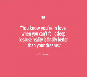 Love Quotes You know youre in love when you cant fall asleep because ...