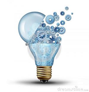 Creative technology and communication concept as an open door light
