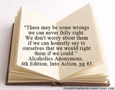 Quote from #Alcoholics #Anonymous , 4th Edition, Into Action. #Wise ...