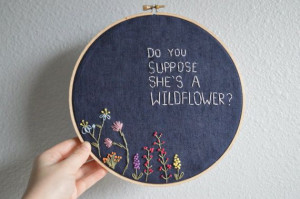 ... suppose she's a wildflower? alice in wonderland quote lewis carroll