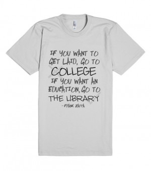 Frank Zappa Quote | Fitted T-shirt | Front