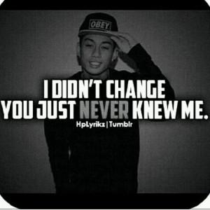 didn't change