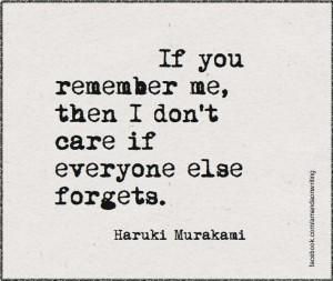 Haruki Murakami quote.