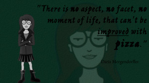 TV Quotes To Live By #1: Daria And Pizza by LonelyGuyInBedroom
